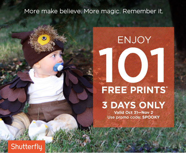 101 FREE 4×6 Prints from Shutterfly – Valid through Nov 2