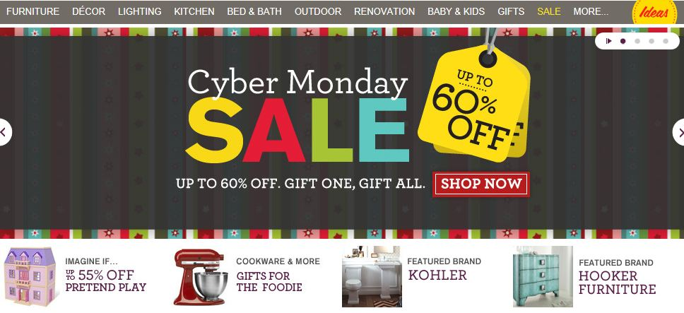 Wayfair – a zillion things home Store Up to 60% off Cyber Monday ...