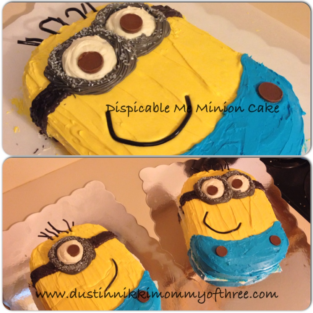 Cake decorating dispicable me minion cake how to cakedecorating minions dispicableme - Cake decorations minions ...
