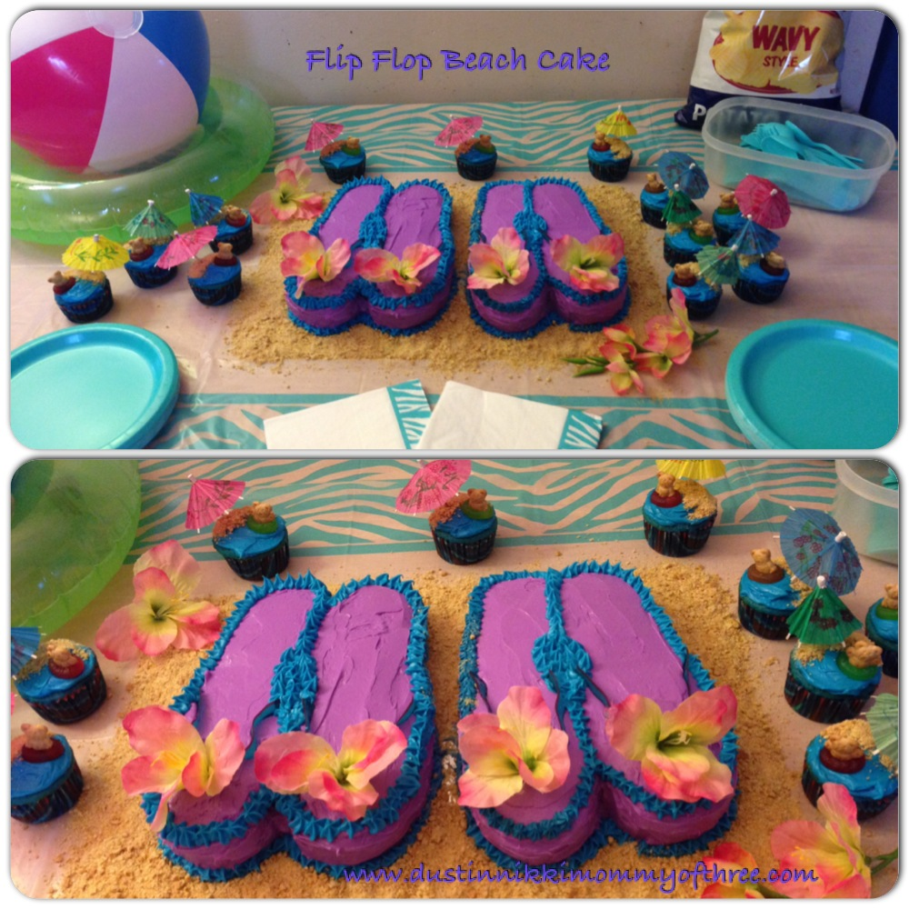 pair flip flops cake beach theme birthday party baking cakes