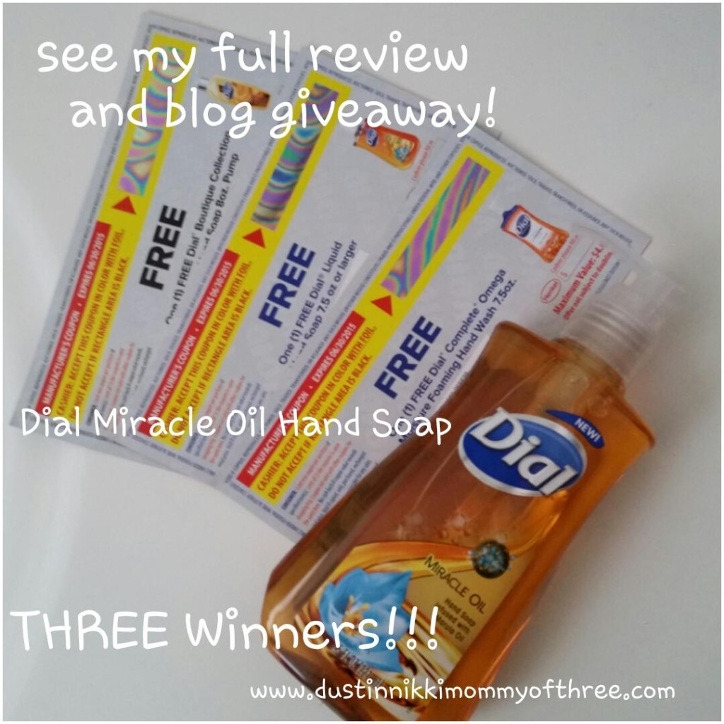 Dial hand soap giveaway