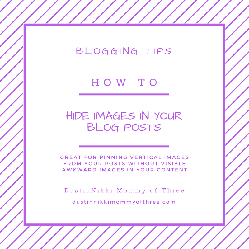 How to Hide Images in Your Blog Posts