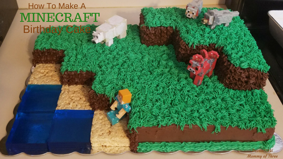 How to Make and Decorate a Minecraft Landscape Birthday Cake ...