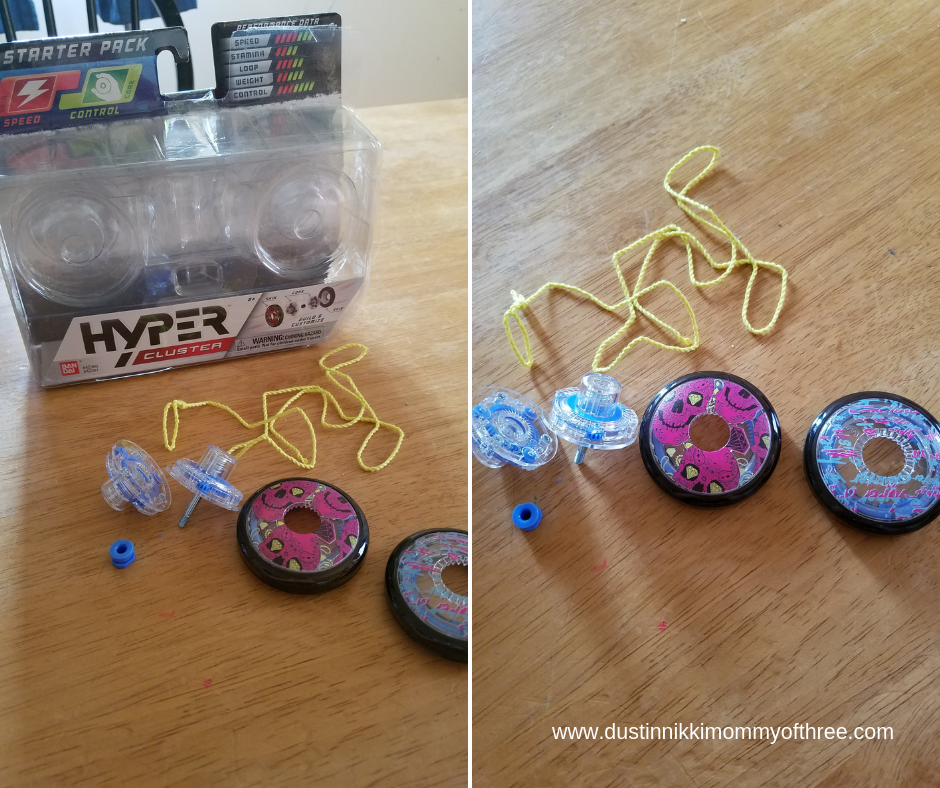 HyperCluster Yo-Yos By Bandai Review (Build And Customize