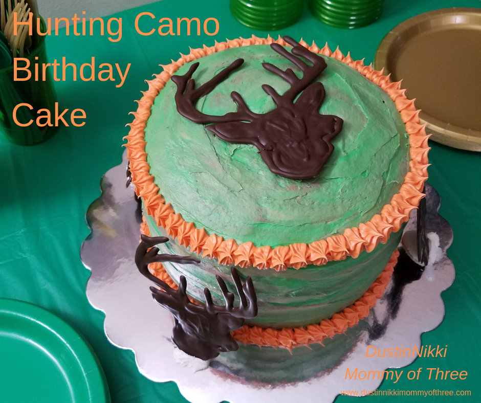 Swell How To Hunting Camo Birthday Cake Dustinnikki Mommy Of Three Funny Birthday Cards Online Overcheapnameinfo
