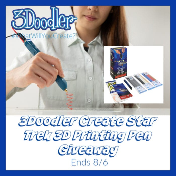 3Doodler Create Star Trek 3D Printing Pen Giveaway