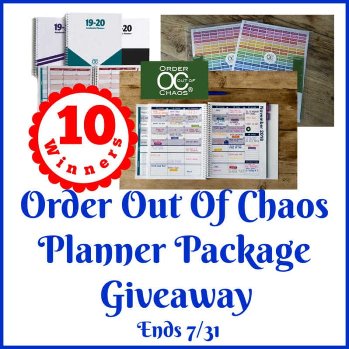 Order Out Of Chaos Planner Package Giveaway