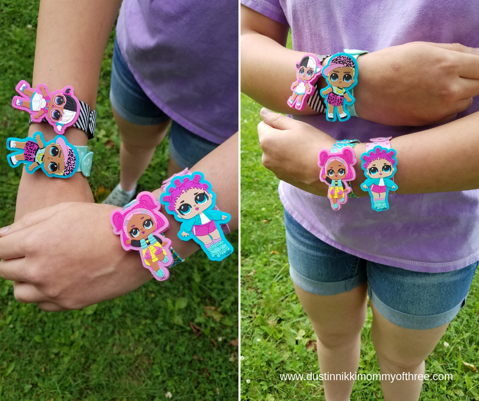 LOL Surprise Doll  4 Slap  Bracelets with 8 Charms-Mix and Match-Very very cute!